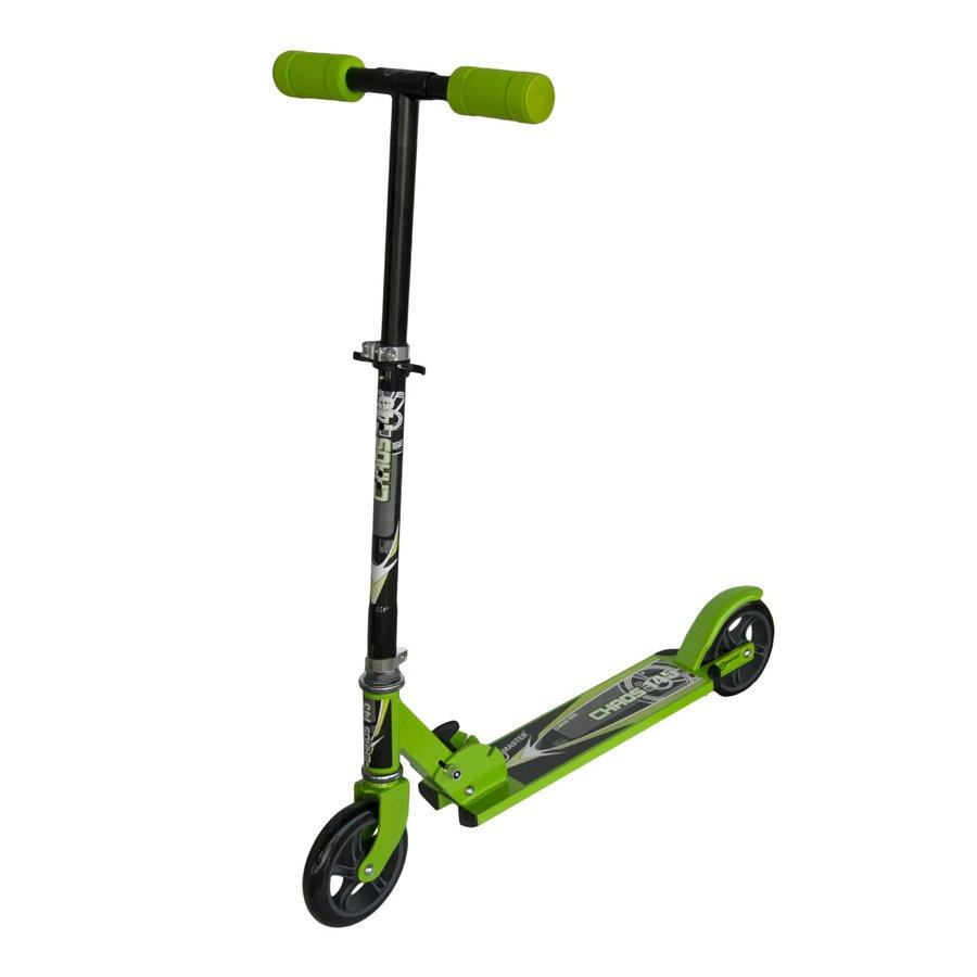 Zelená dětská koloběžka Chaos, Master - nosnost 100 kg