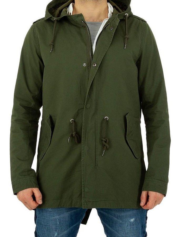 Zelená zimní pánská bunda