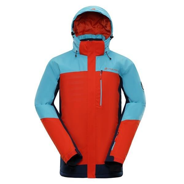 Modro-oranžová pánská lyžařská bunda Alpine Pro - velikost S