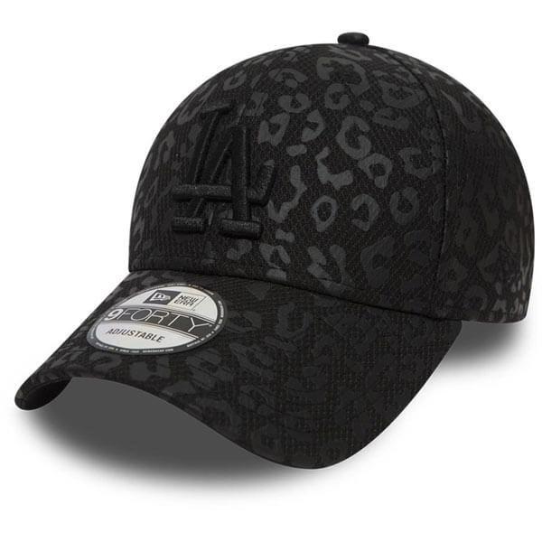 Kšiltovka - Dámská kšiltovka New Era 9Forty Womens MLB Leopard LA Dodgers Black - UNI