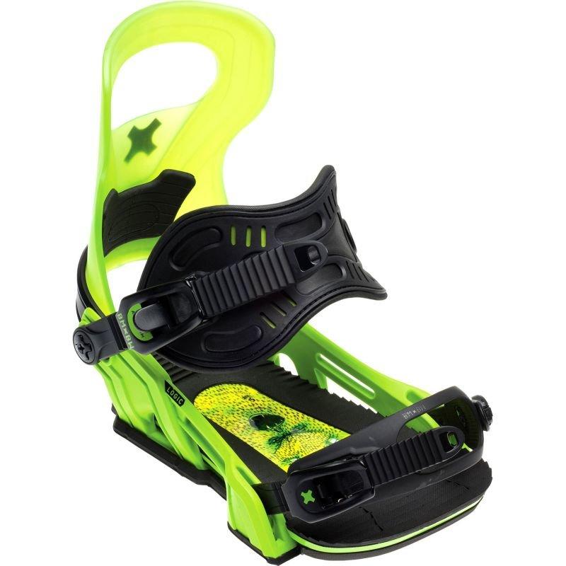 Zelené vázání na snowboard Bent Metal - velikost L
