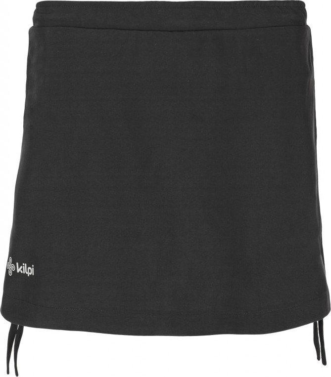 Černé dámské běžecké kraťasy Kilpi - velikost 34, Černá dámská běžecká sukně Kilpi - velikost 34