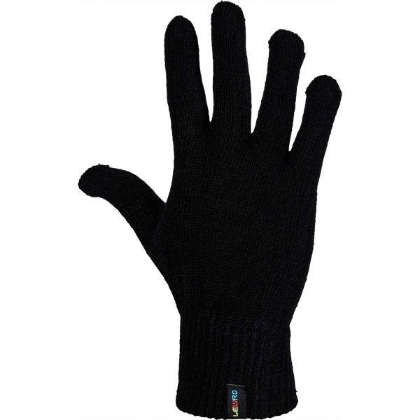 Černé dětské zimní rukavice Lewro