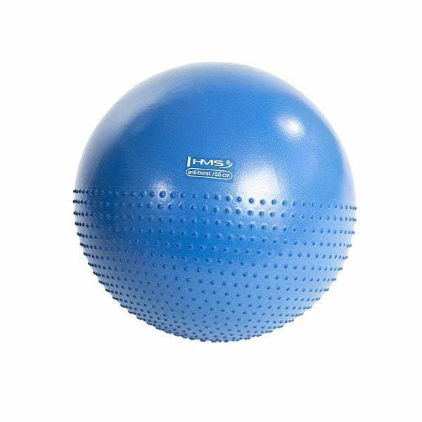 Modrý gymnastický míč s pumpou HMS - průměr 55  cm