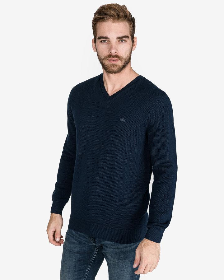 Modrý pánský svetr Lacoste - velikost XL