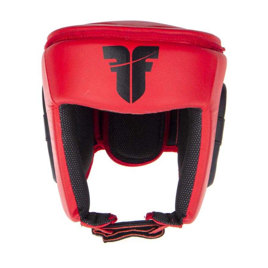 Červená boxerská přilba Fighter