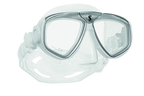 Potápěčská maska - Maska potápěčská Zoom Evo Scubapro - bílo/stříbrná - čirá
