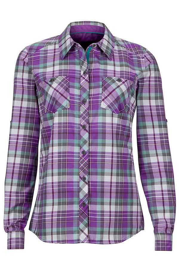 Fialová kostkovaná dámská košile Marmot
