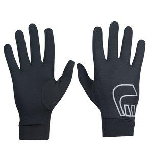 Černé polyesterové dámské nebo pánské běžecké rukavice Base, Newline - velikost S