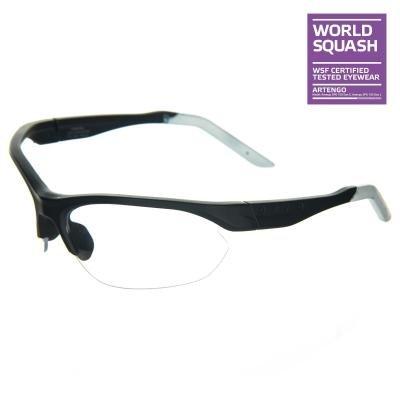 Černé ochranné brýle na squash Opfeel