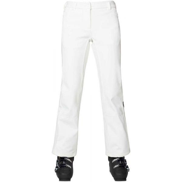 Bílé softshellové dámské kalhoty Rossignol
