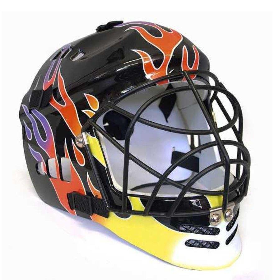 Černá brankářská florbalová maska - senior Sedco