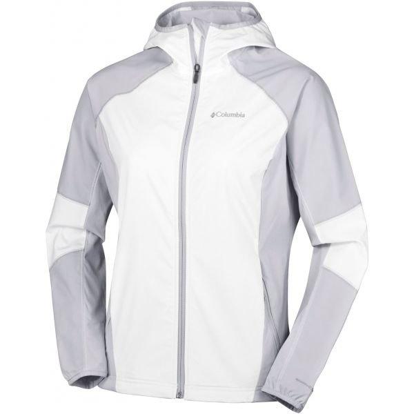Bílo-šedá softshellová dámská bunda Columbia