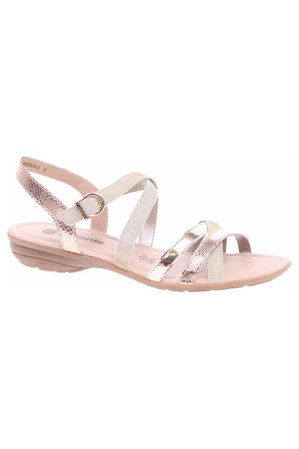 Sandály - Dámské sandály Remonte R3631-90 gold R3631-90 44