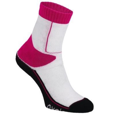 Bílo-červené unisex ponožky Oxelo - velikost 31-34 EU