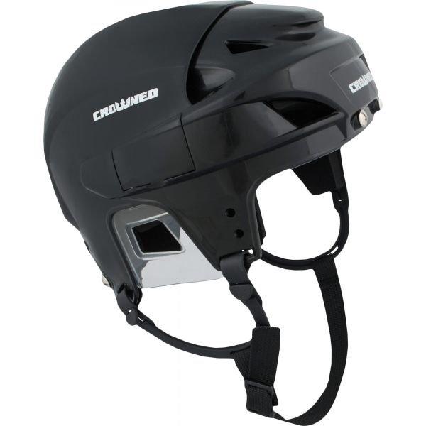 Černá hokejová helma Crowned - velikost 57-59 cm
