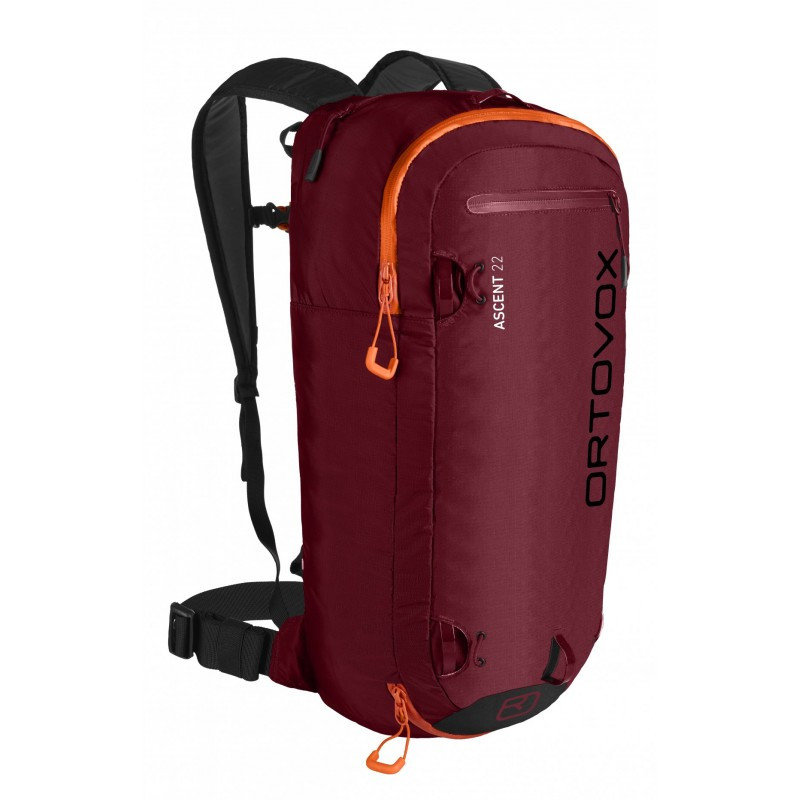 Červený lavinový skialpový batoh Ortovox - objem 22 l