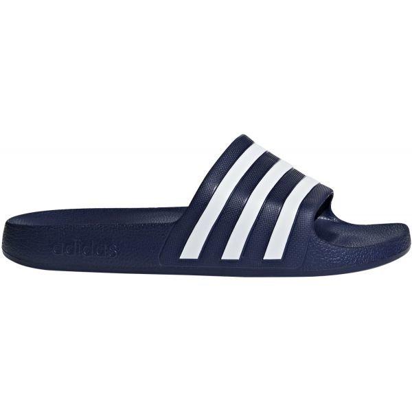 Modré pánské pantofle Adidas - velikost 44 2/3 EU