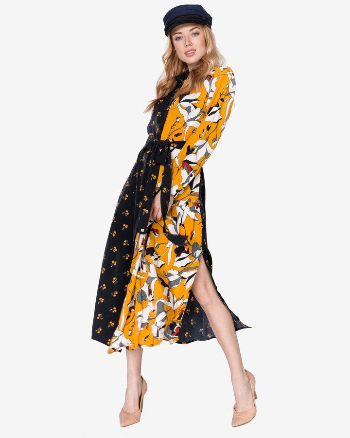 Černo-žluté dámské šaty French Connection - velikost XS