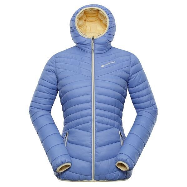 Modrá zimní dámská bunda s kapucí Alpine Pro - velikost XXL