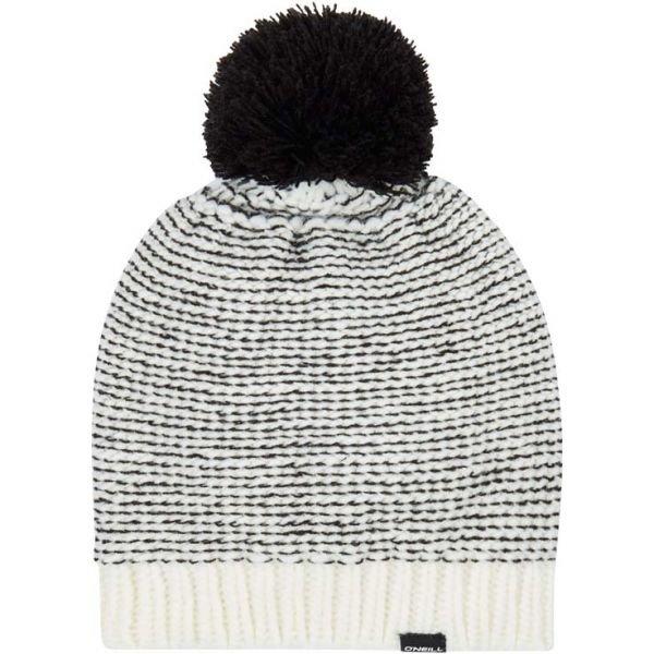 Bílo-černá dámská zimní čepice O'Neill