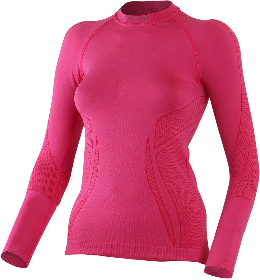 Růžové termo dámské termo tričko s dlouhým rukávem Lasting - velikost S-M