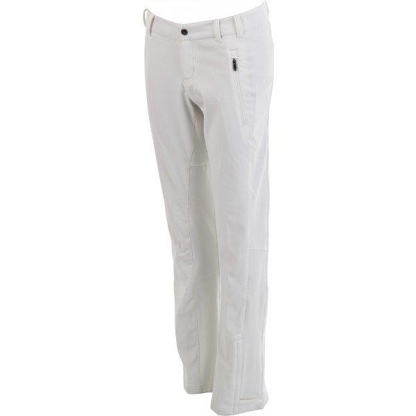 Bílé softshellové dámské kalhoty Columbia - velikost L