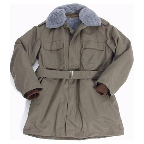 Kabát - Kabát vz.85 zelený s vložkou a límcem mix