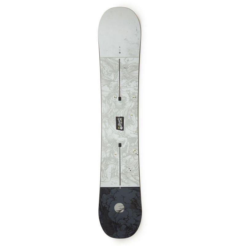 Šedý snowboard bez vázání Burton - délka 152 cm