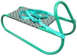 Zelené kovové dětské sáňky Acra