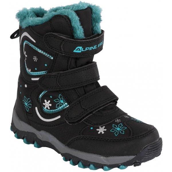 Černé chlapecké zimní boty Alpine Pro
