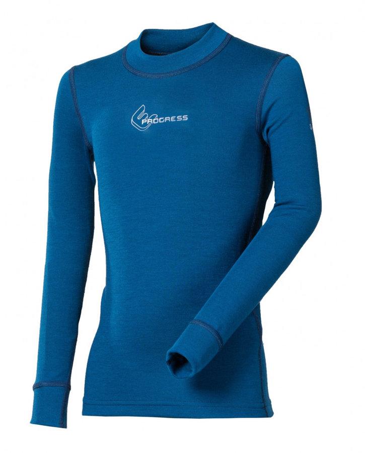 Modré dětské funkční tričko s dlouhým rukávem Progress