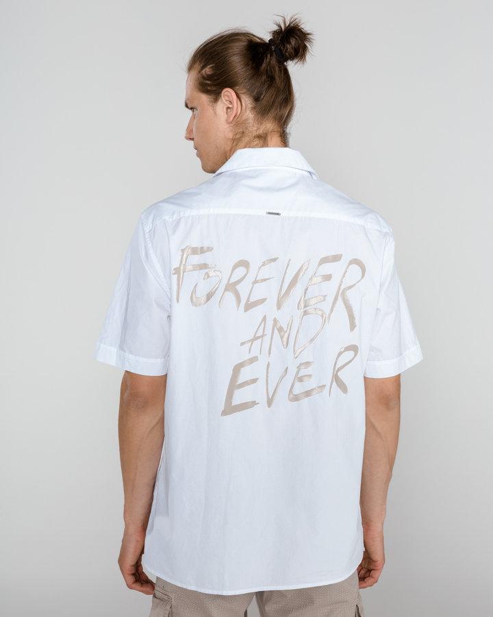 Bílá pánská košile s krátkým rukávem Antony Morato - velikost XL