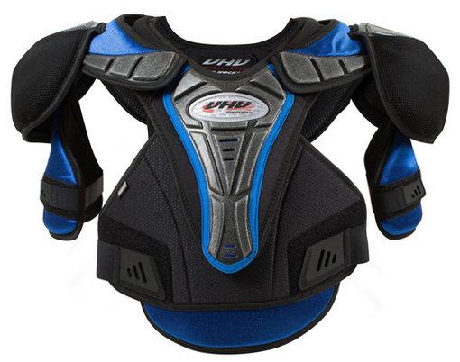 Černý hokejový chránič ramen - senior Opus - velikost M-L