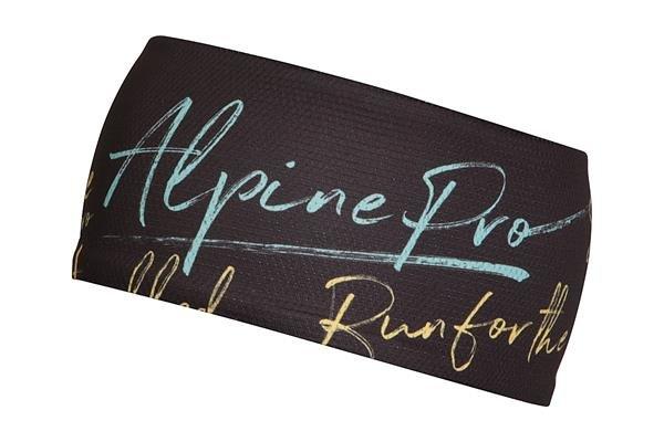 Černá běžecká čelenka Alpine Pro