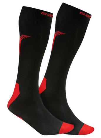 Černo-červené hokejové ponožky NG Core S17 Performance Tall, Bauer - velikost S