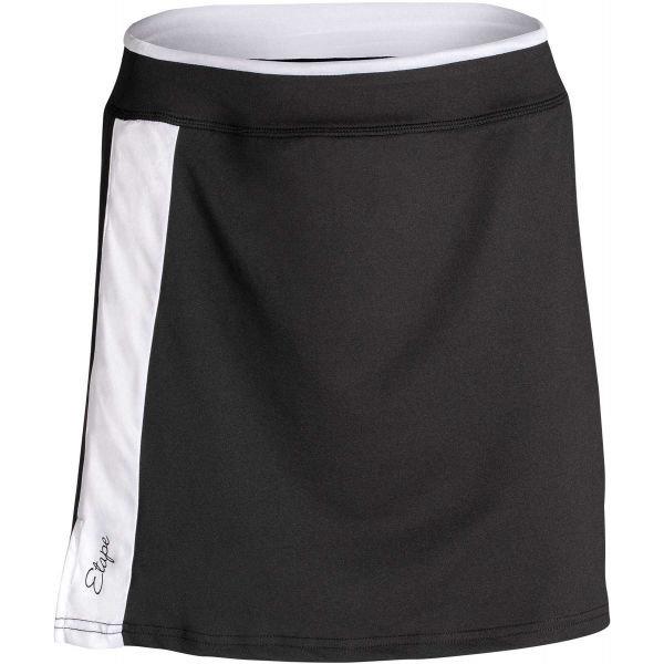 Černá dámská sukně Etape - velikost XL, Černé dámské cyklistické kraťasy Etape - velikost XL