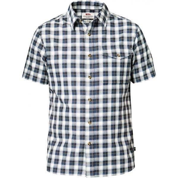 Bílo-modrá pánská košile s krátkým rukávem Fjällräven - velikost M