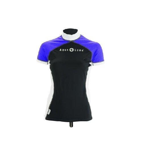Černo-modré dámské lycrové tričko Athletic Lady Short, Aqualung - velikost L