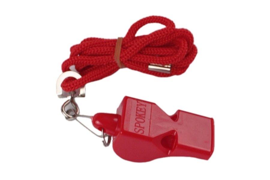 Píšťalka pro rozhodčího - Píšťalka plastová SPOKEY Mayday červená