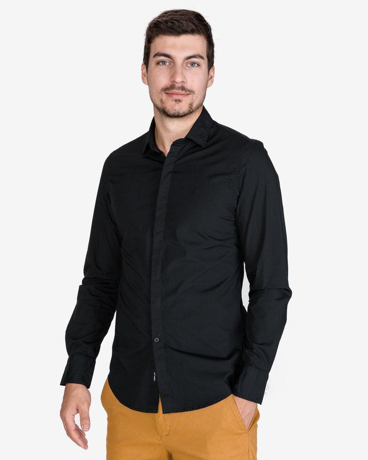 Černá pánská košile s dlouhým rukávem Replay - velikost S