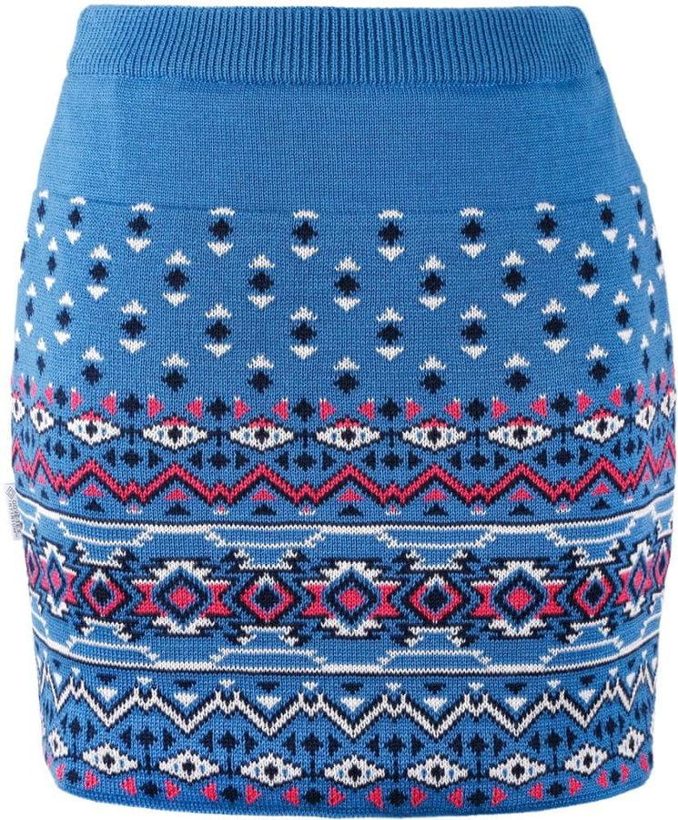 Modrá dámská sukně na běžky Kama