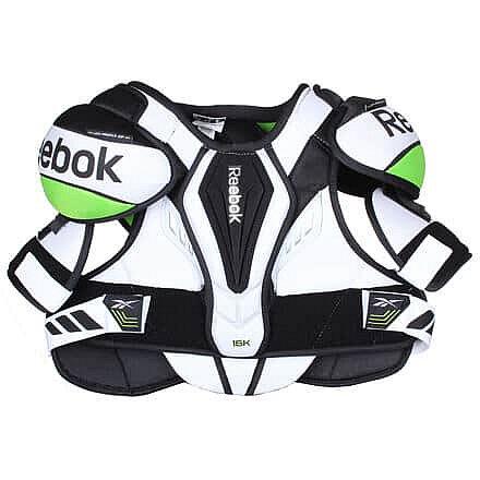 Bílý hokejový chránič ramen - senior Reebok - velikost S