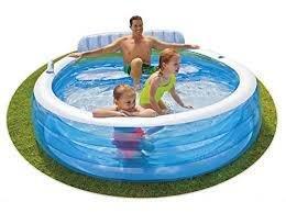 Nadzemní nafukovací oválný bazén INTEX - délka 224 cm, šířka 216 cm a výška 76 cm