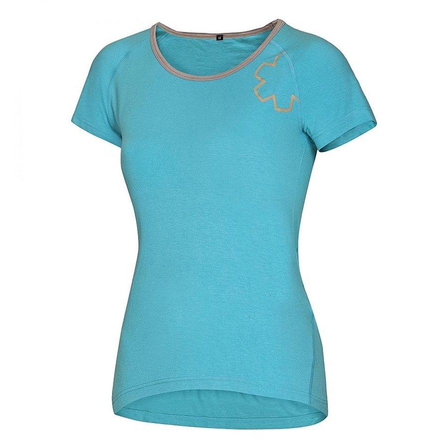 Modré dámské turistické tričko s krátkým rukávem Ocún