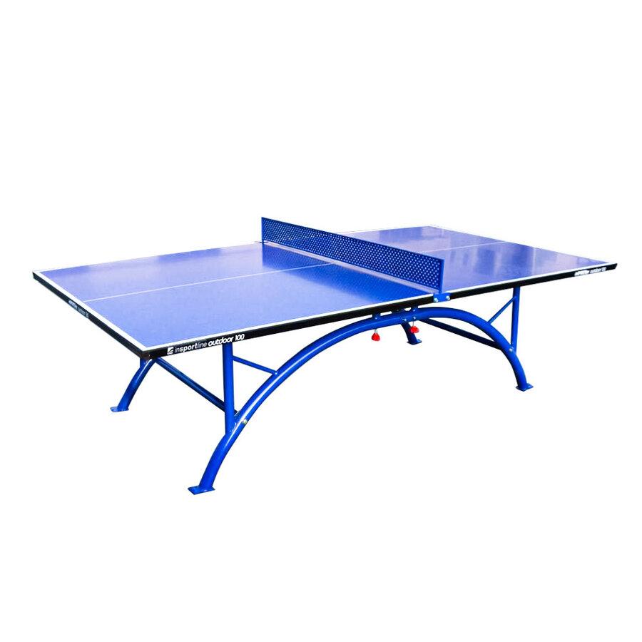 Modrý venkovní stůl na stolní tenis 100, inSPORTline