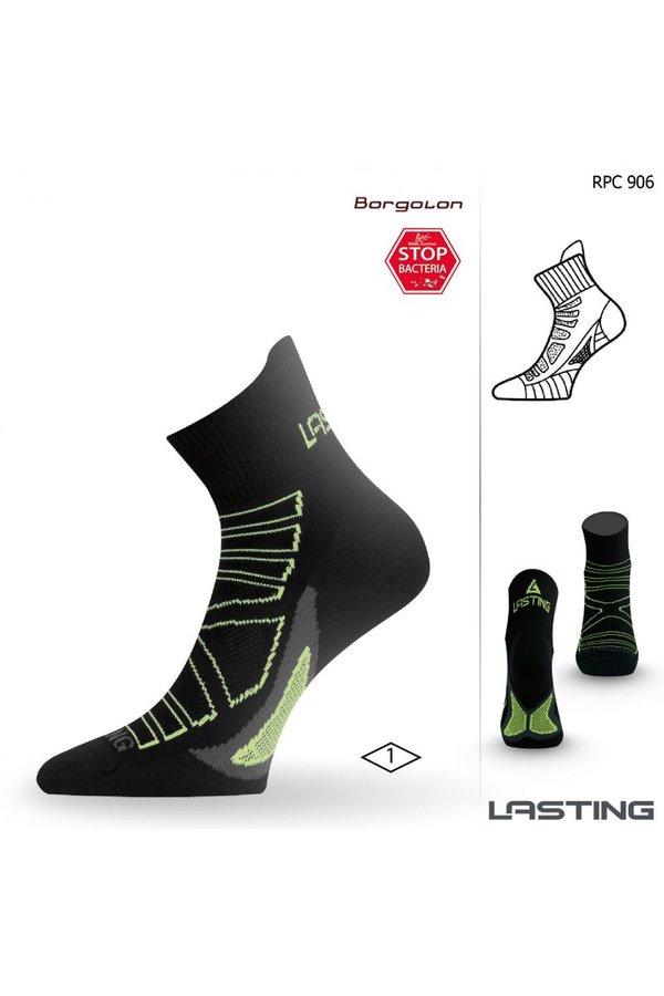 Černé pánské běžecké ponožky Lasting