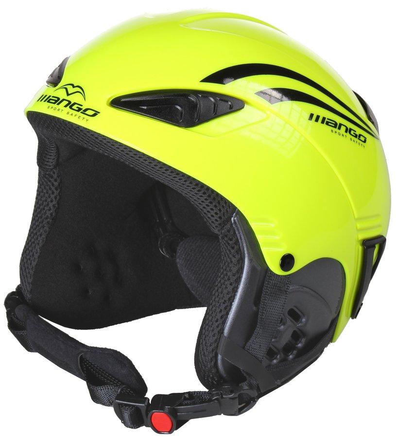Žlutá dětská lyžařská helma Rocky, Mango - velikost 48-52 cm