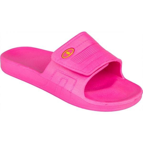 Růžové dívčí pantofle Salmiro