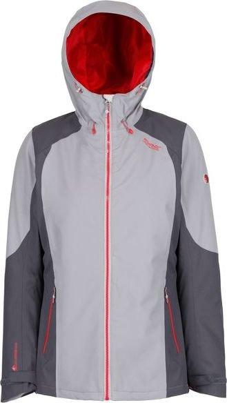 Šedá zimní dámská bunda s kapucí Regatta - velikost 36